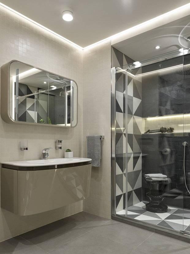 Ванная в стиле хай-тек - 110 фото особенностей создания дизайна
