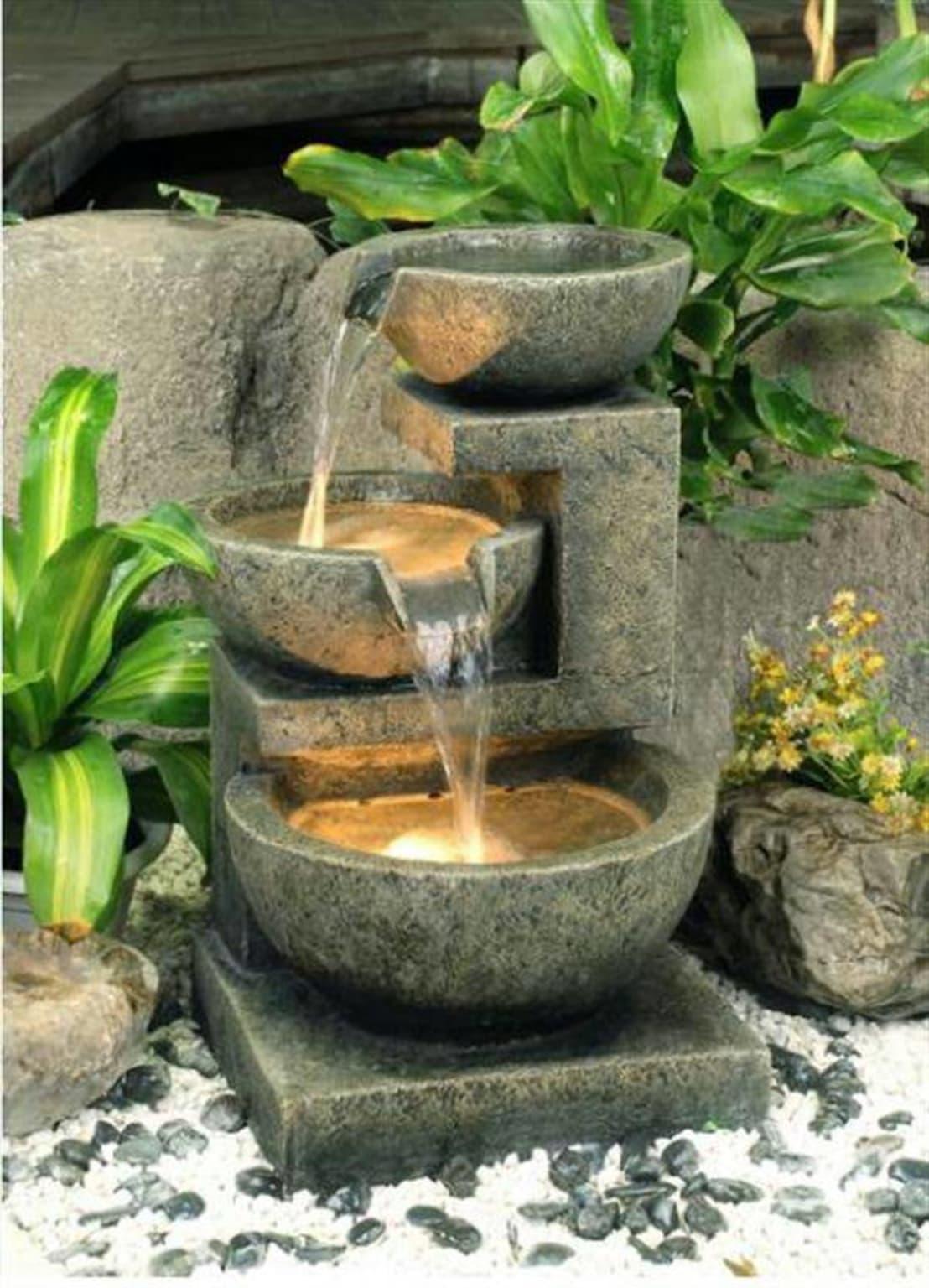 Декоративные фонтаны и водопады для дома: идеи дизайна дачного участка