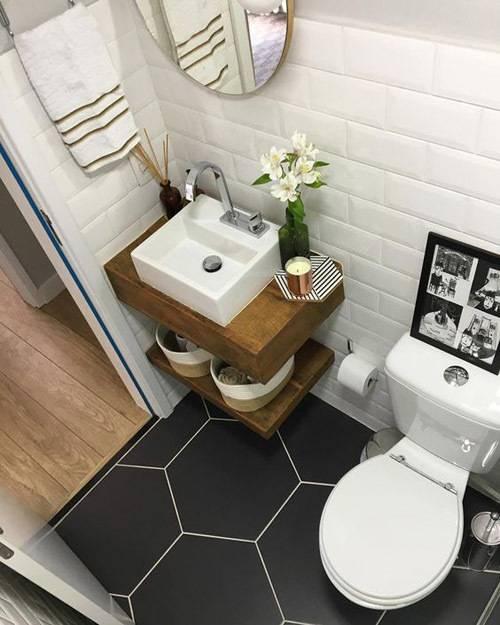 Плитка для маленькой ванной комнаты + 150 фото