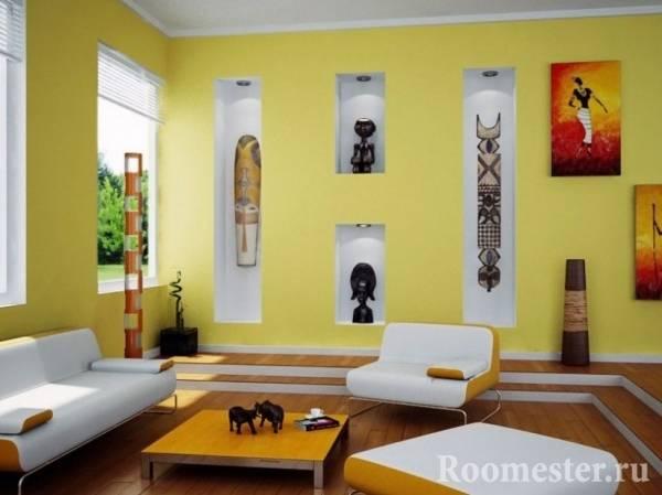Интерьер в желтых тонах: 75 фото современно использования желтого в дизайна