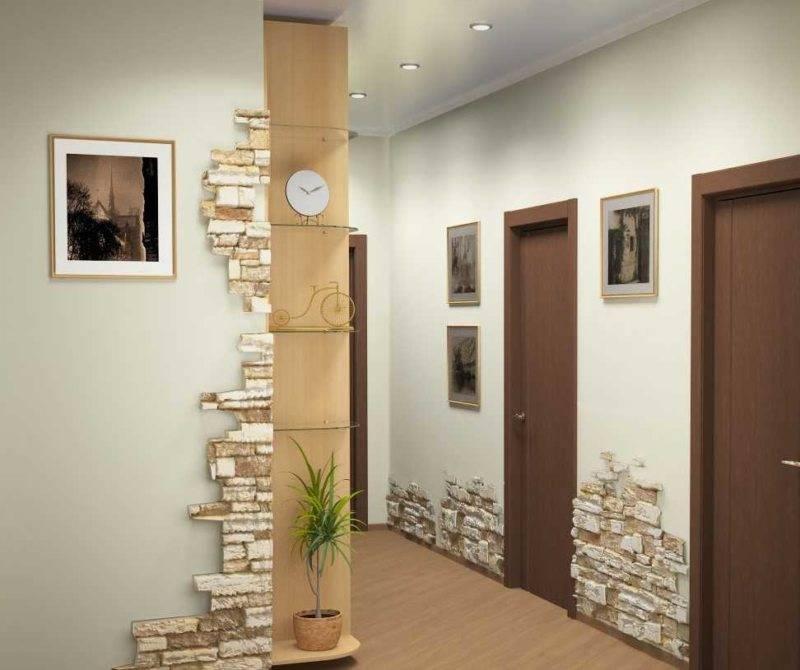 Варианты отделки стен в прихожей: преимущества и недостатки разных вариантов