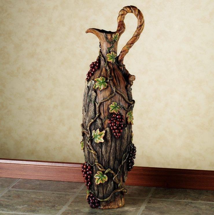 Напольные вазы: красивый декор своими руками
