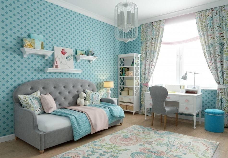 Бирюзовые шторы в интерьере комнат: 65 лучших фото и идей