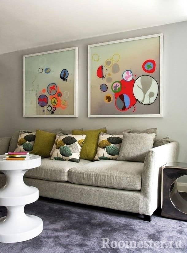 Выбираем картины для интерьера: 50+ идей размещения постеров, диптихов и репродукций