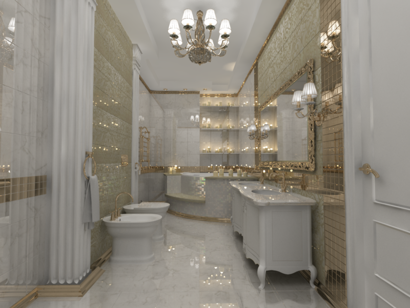 Ванная комната в классическом стиле (64 фото): классика и неоклассика в дизайне интерьера, маленькая ванна на ножках