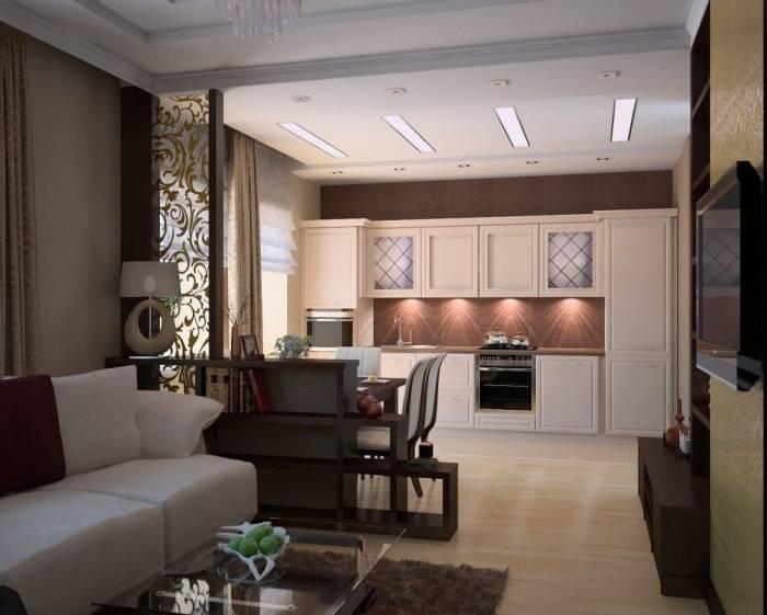 Дизайн совмещенной кухни-столовой-гостиной: лучшие идеи и фото