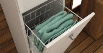 Корзины для белья в ванную: виды и выбор