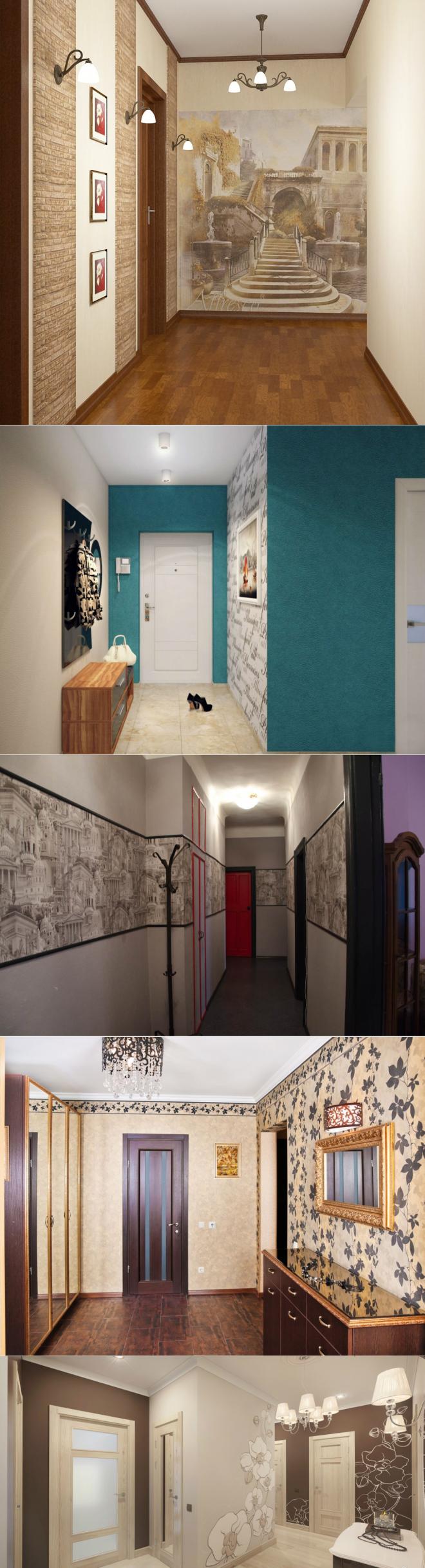 Обои в прихожую и коридор: + 50 фото лучших интерьеров