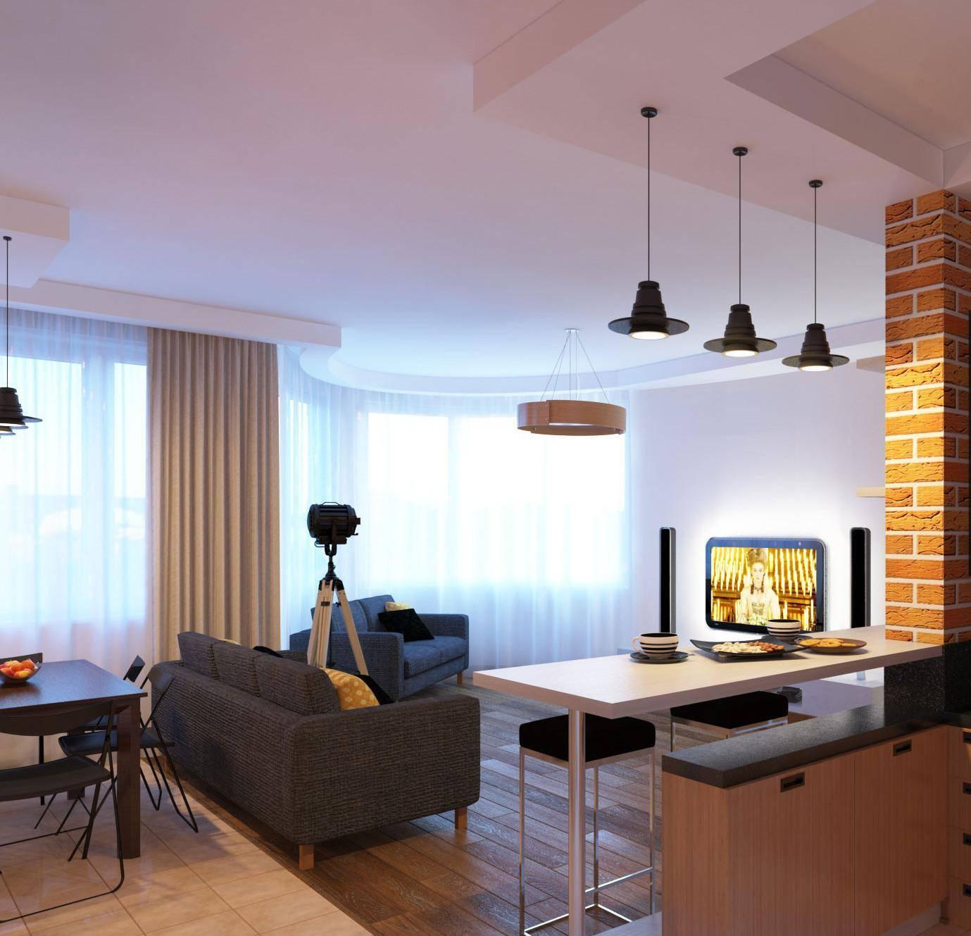 Идеальное зонирование гостиной и кухни: нюансы и секреты