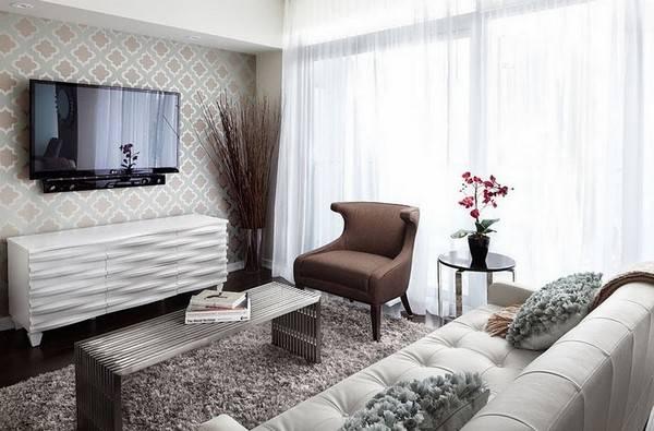 Дизайн стен в гостиной (96 фото): современные идеи оформления акцентных стен, варианты отделки стен в зале керамогранитом, молдинги в интерьере
