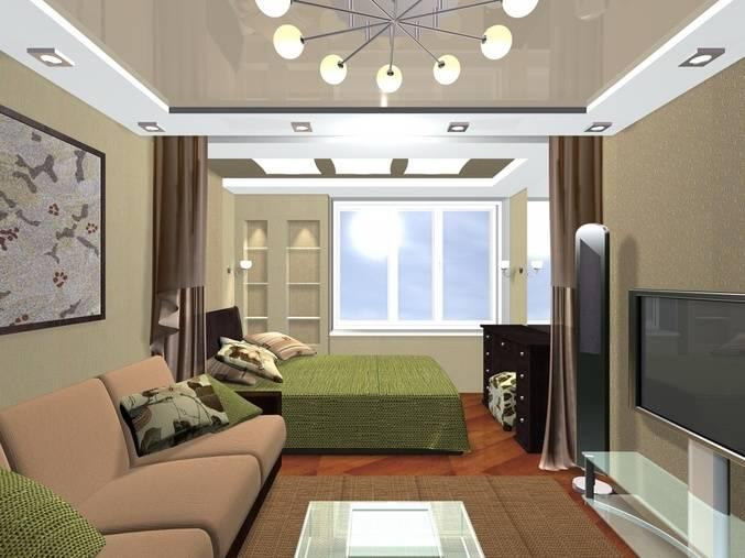 Дизайн спальни 14 кв м - интерьер спальни-гостиной + 45 фото