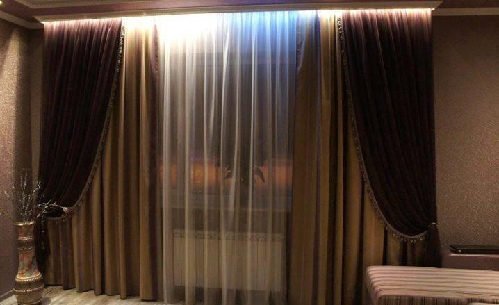 Комбинированные шторы - 100 фото лучших идей дизайна и сочетания штор двух цветов