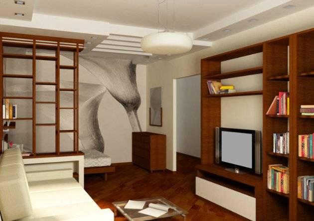 Стильный зал в хрущевке: 15 идей и фото