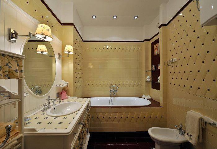 Ванная комната в современной классике: примеры интерьера в современном стиле - smallinterior