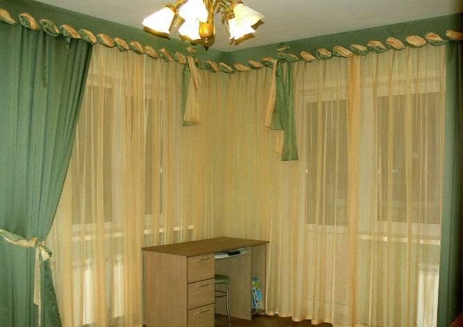 Шторы на два окна с простенком и без - арт интерьер