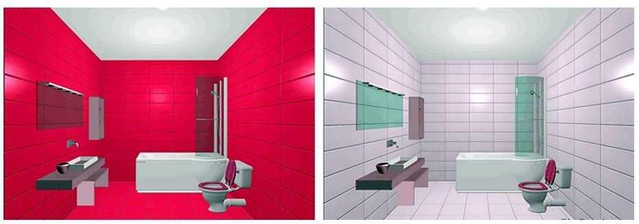 Современные способы раскладки плитки в ванной