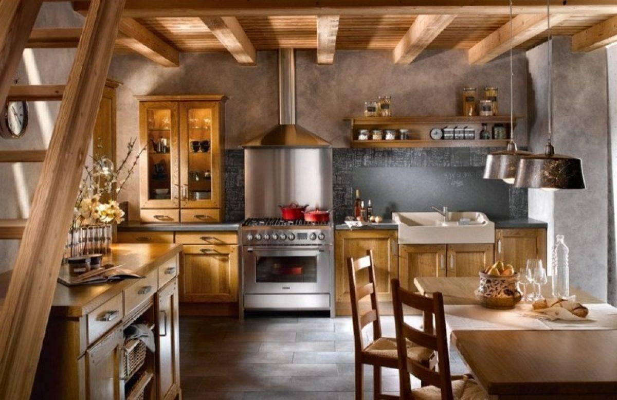 Кухня в деревянном доме: 130 фото лучших дизайнов, рекомендации, выбор стиля