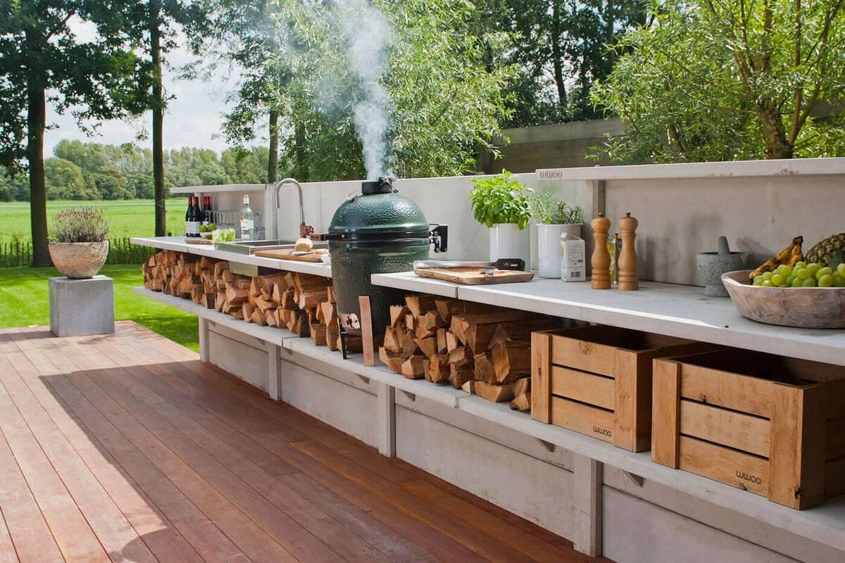 Современные летние кухни на даче: проекты и фото