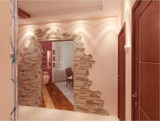 Отделка коридора декоративным камнем. особенности работы и варианта дизайна