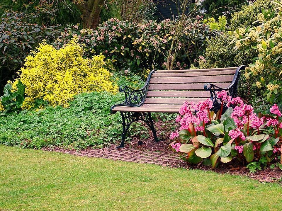 Использование садовых скамеек в ландшафтном дизайне участка