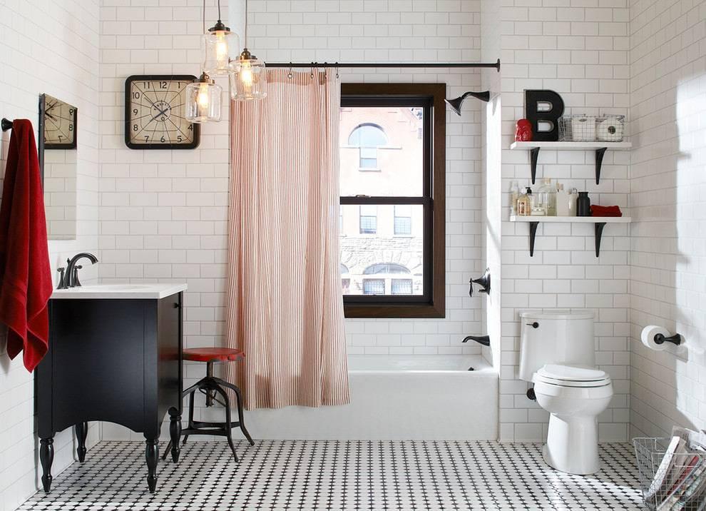 Какую штору для ванной выбрать: виды материалов, форм и размеров