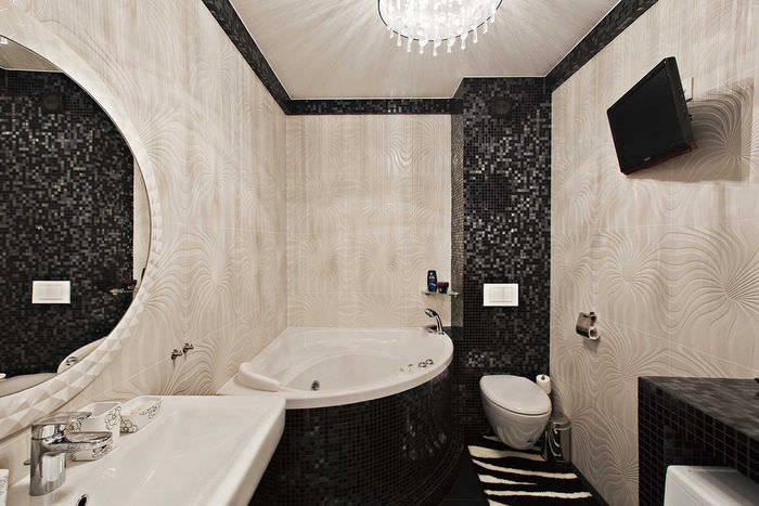 Дизайн угловой ванной: 110 фото примеров современных идей и основы проектирования интерьера