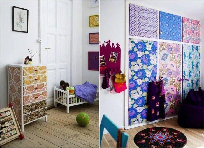 Декор шкафа своими руками: чем обклеить старый шкаф в домашних условиях, идеи декора