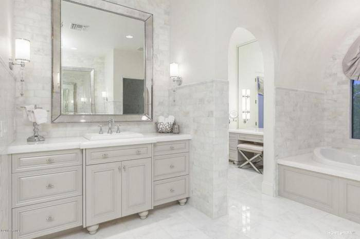 Ванная комната в классическом стиле - классический интерьер ванной (+фото)
