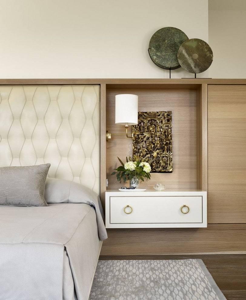 Тумбочки в спальню: 100 фото стильных моделей в интерьере