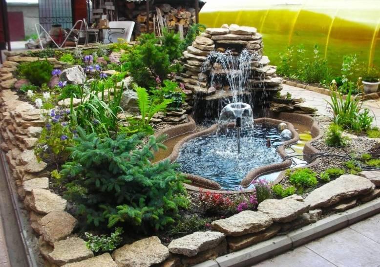 Искусственный водопад на даче: ландшафтный дизайн дома, декоративный фонтан на даче