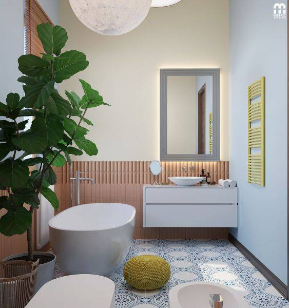 Дизайн узкой ванной комнаты: 65 фото красивых решений