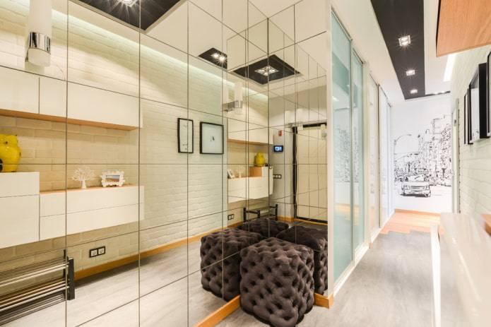Подбираем шкаф с зеркалом в прихожую – современные идеи декора и оформления