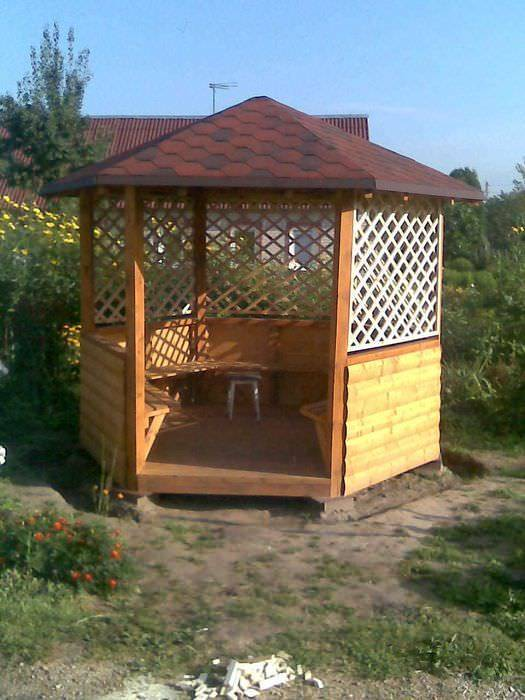 Проекты деревянных беседок: варианты, схемы, этапы строительства, фото