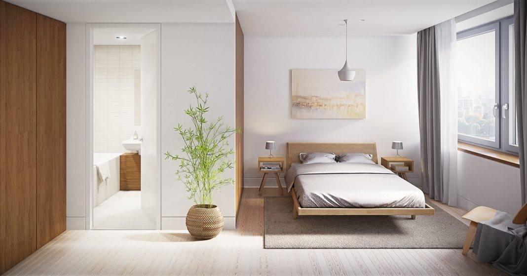 Спальня в стиле минимализм: оформление, выбор цвета и мебели