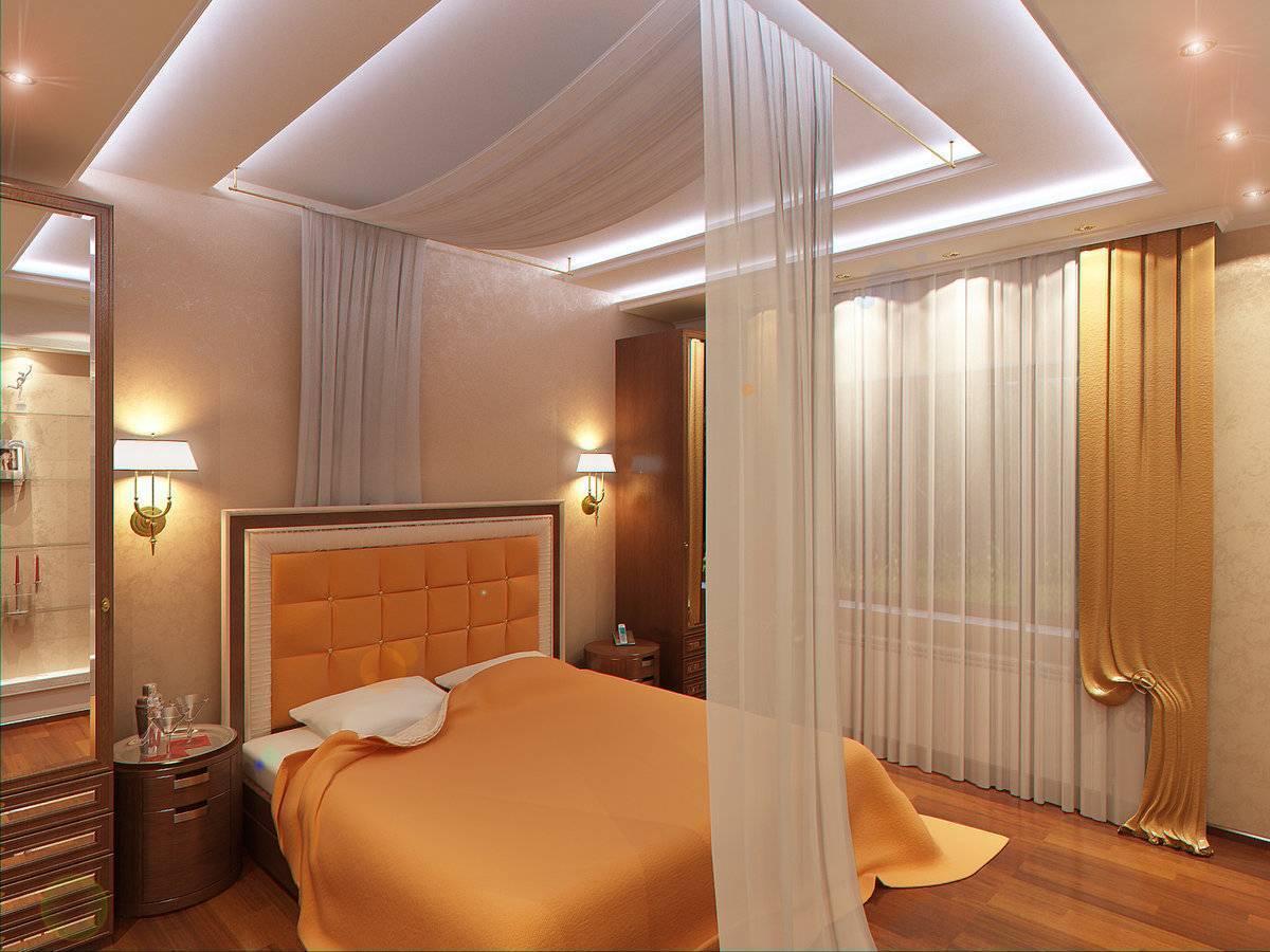 Дизайн потолка в спальне: красивые идеи оформления интерьера