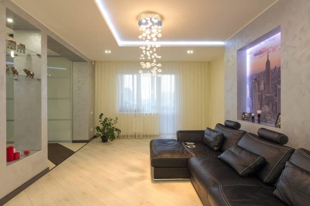 Как сделать комбинированный потолок - гипсокартон и натяжной, особенности потолочной конструкции