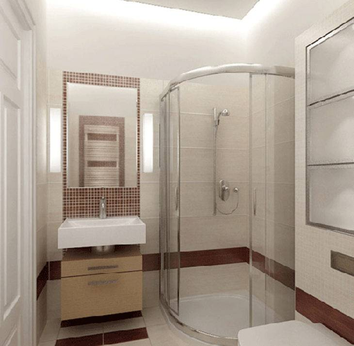 Дизайн интерьера маленькой ванной комнаты без туалета