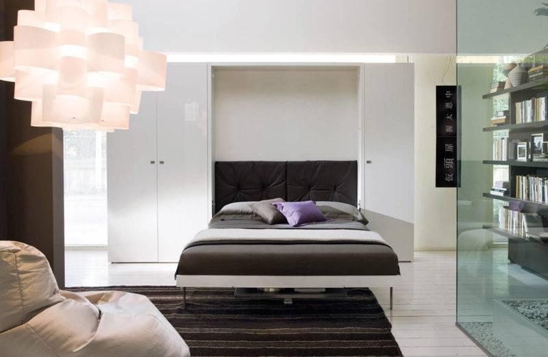 Кровать встроенная в шкаф - 70 фото идеального сочетания в интерьере