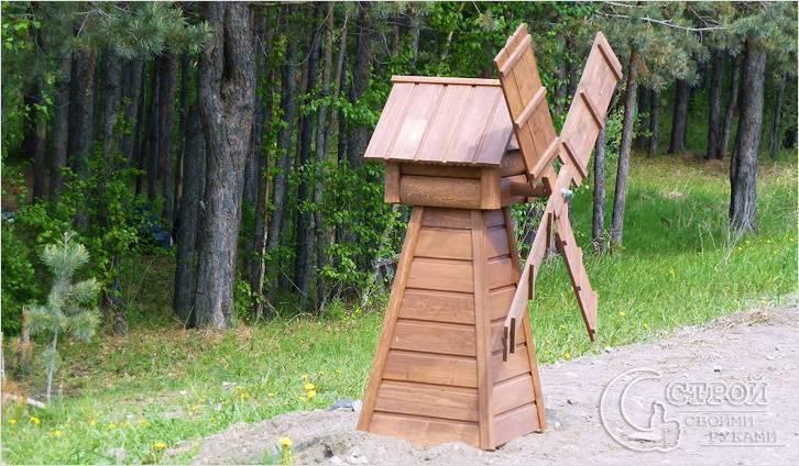 Прогулка в прошлое или декоративная мельница для дачи