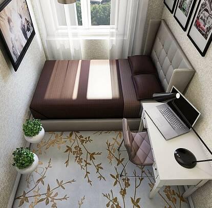 Дизайн спальни 7 кв метров с фото