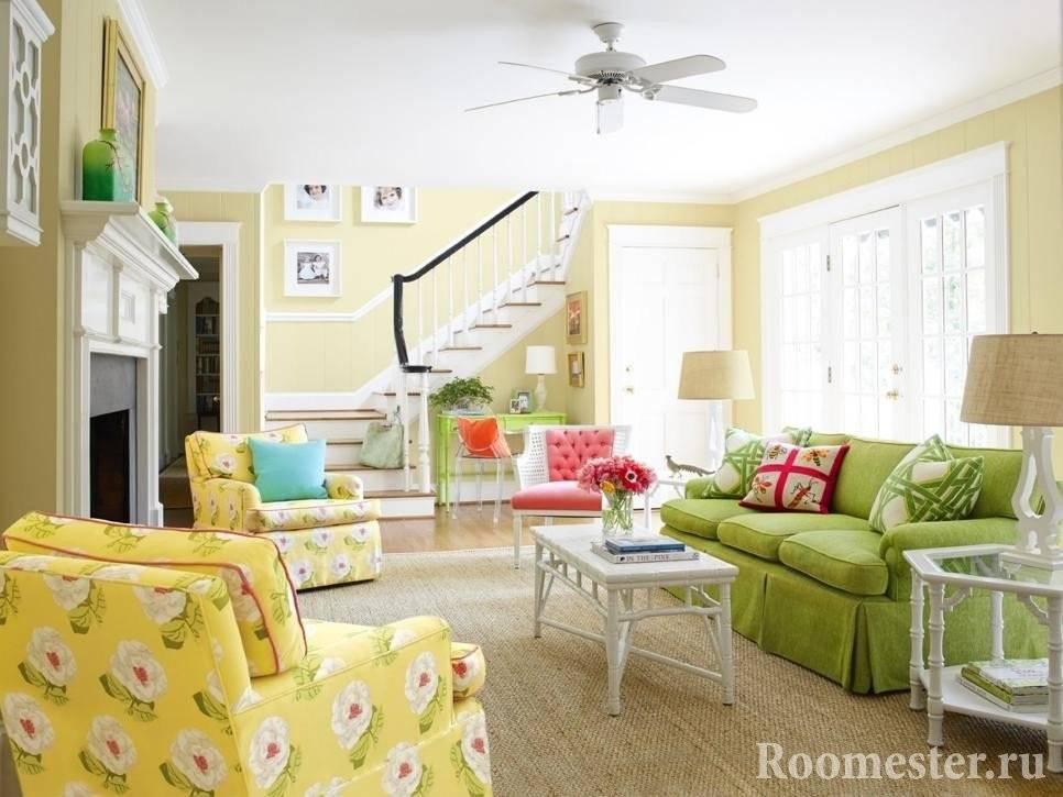Желтый цвет — 30 фото примеров в интерьере