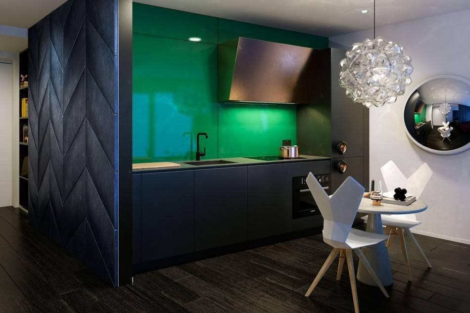 Зеленый цвет для идеальной кухни – 5 главных советов и 100 фото