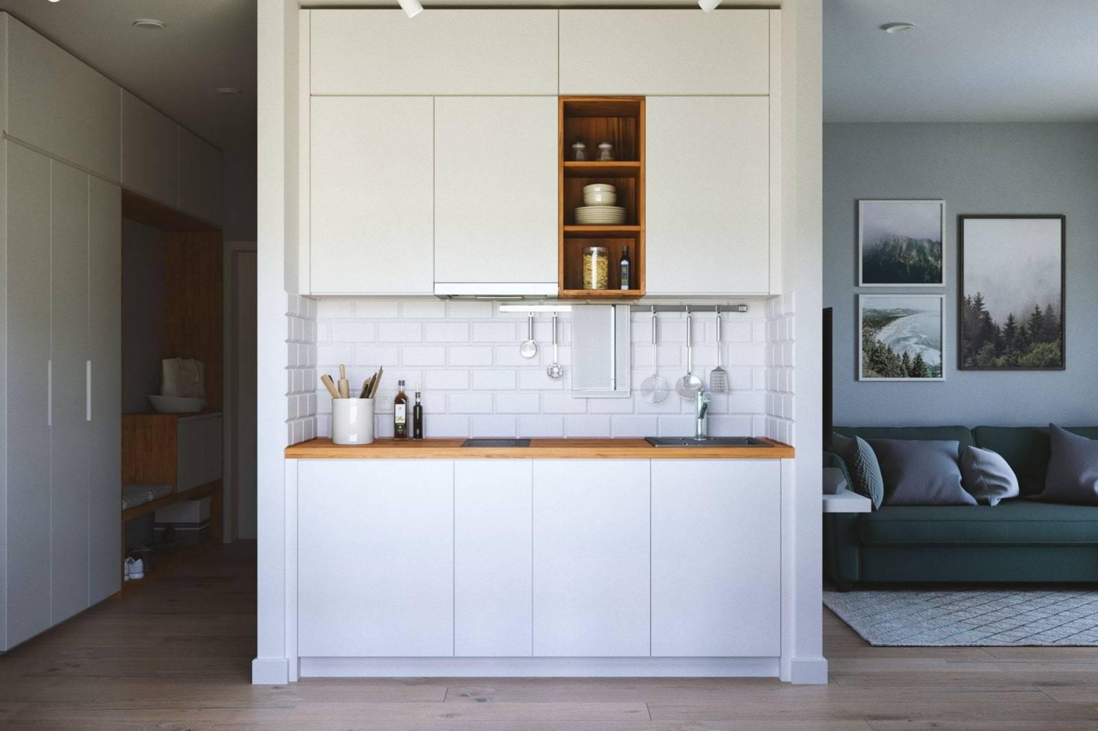 Дизайн маленькой кухни: 45 идей его реализации на фото