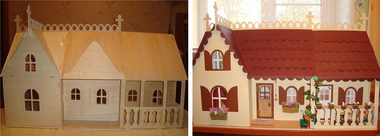 Два мастер-класса, как сделать домик для кукол своими руками