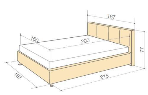 Размеры кровати «полуторки» (54 фото): ширина, длина и высота полутораспальной кровати, выбор матраса и постельного белья, модели с ящиком