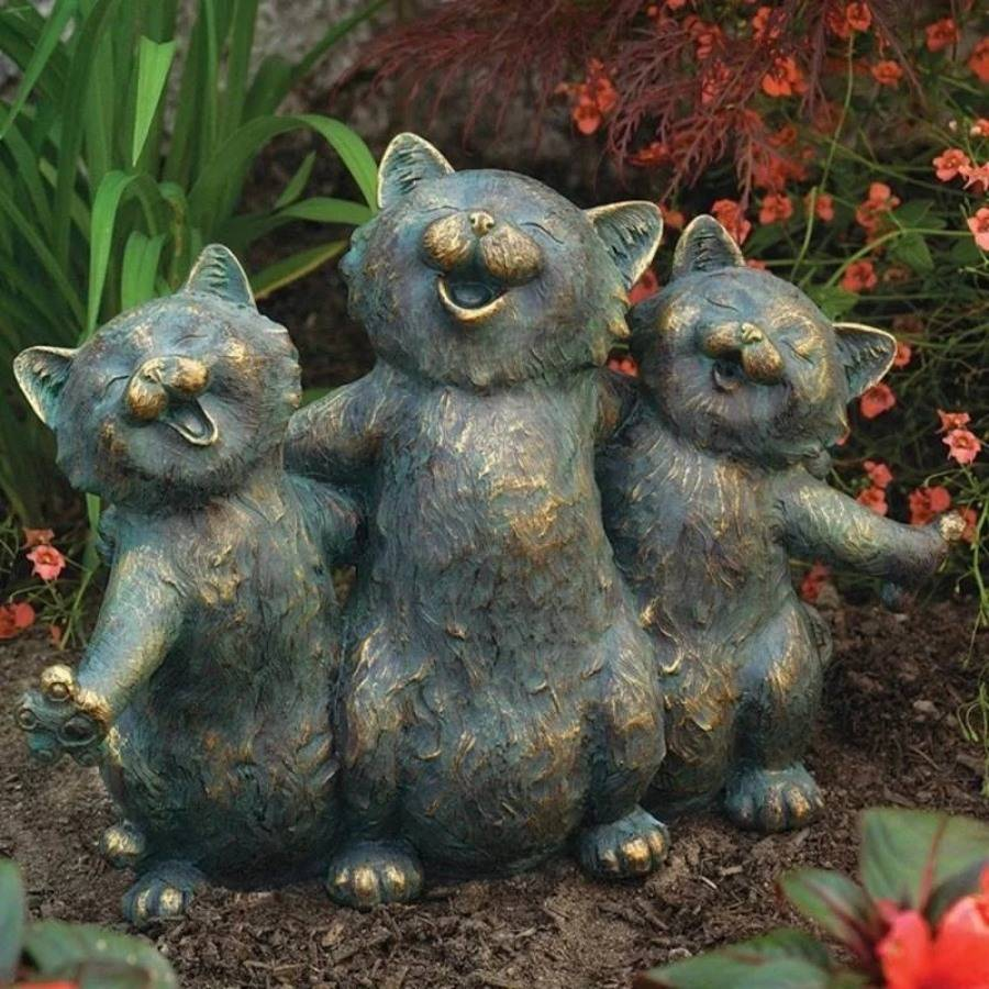 Готовим украшения для сада своими руками: фигурки и садовые скульптуры из подручных материалов