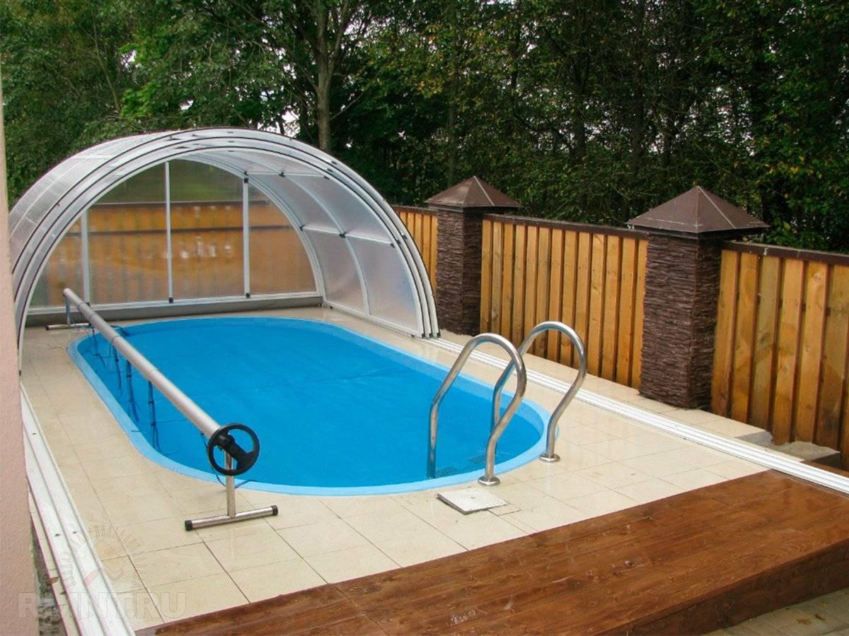 Оформление бассейна в саду на дачном участке