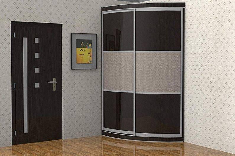 Варианты выбора встроенного шкафа в интерьер прихожей