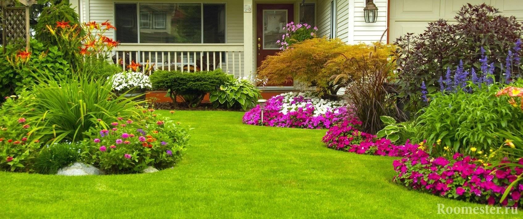 Ландшафтный дизайн загородного дома — примеры оформления