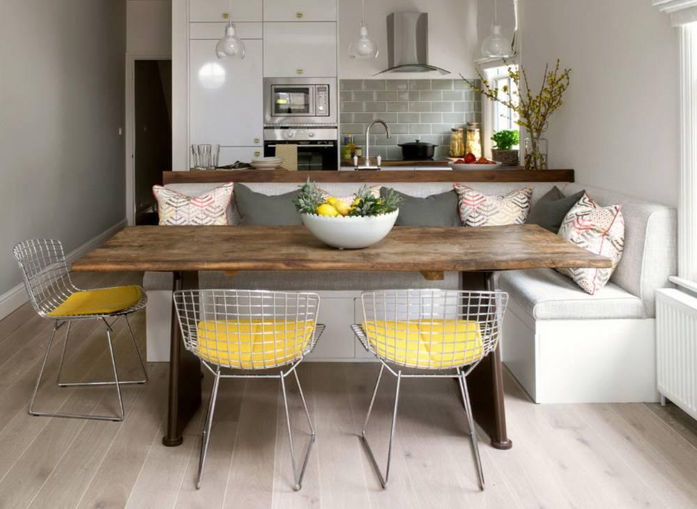 Маленький диван в интерьере кухни: основные виды и правила выбора дивана